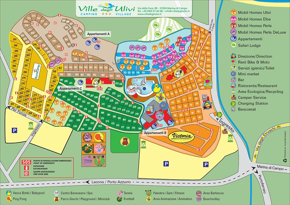 The map of the campsite