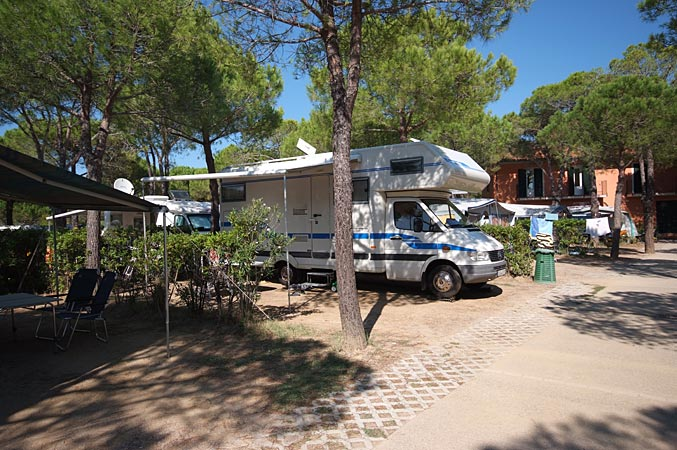 Holiday in campsite on Elba